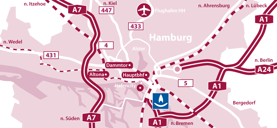 ASTERN Location in Hamburg