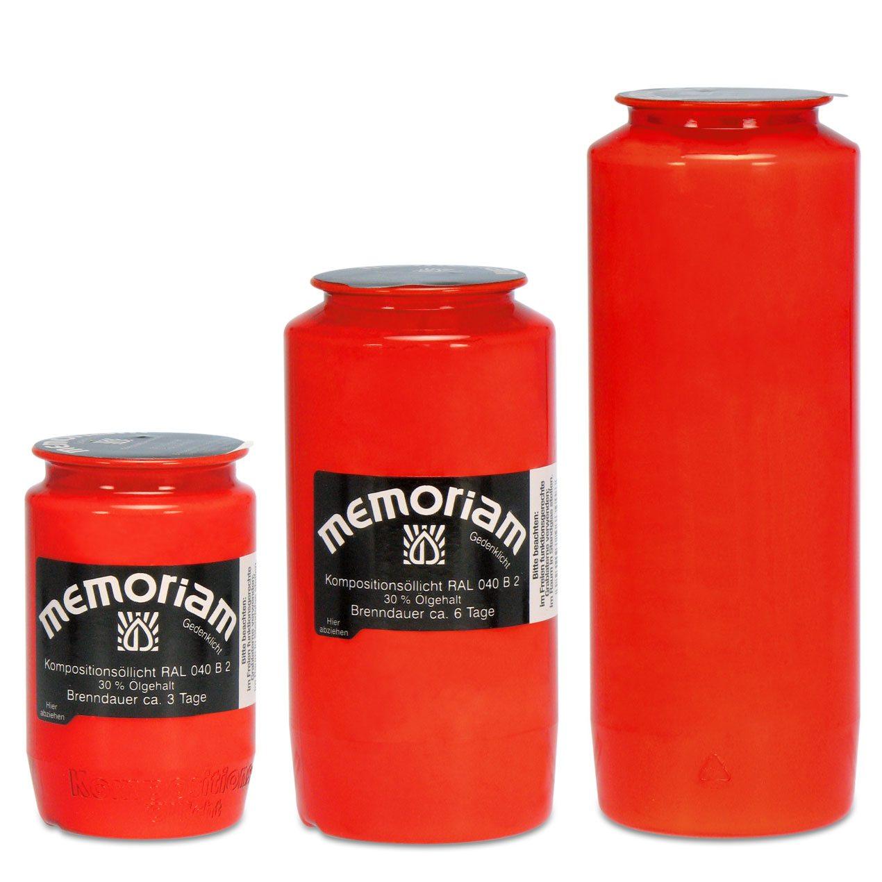 Memoriam Kompositions-Öllichte Rot