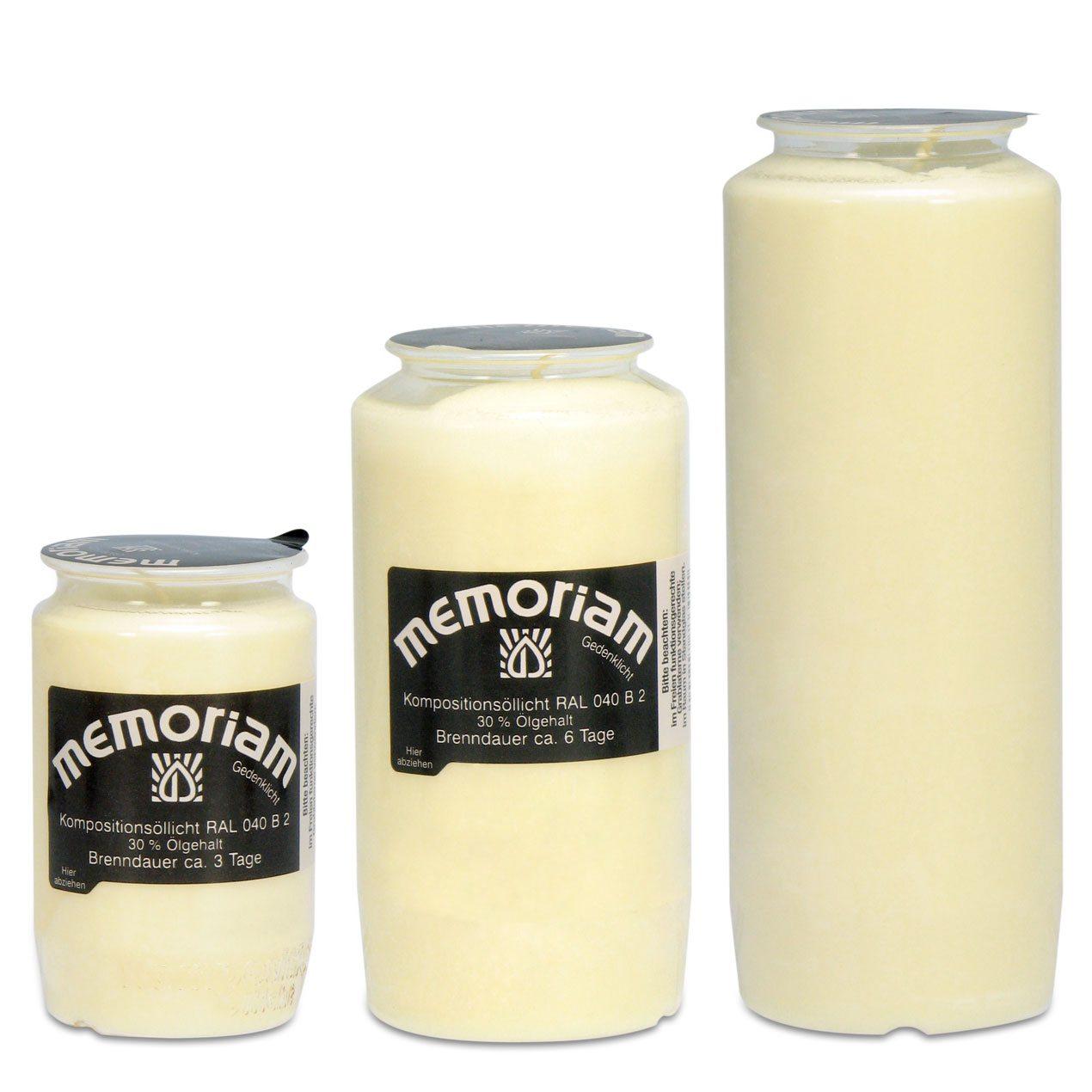 Memoriam Kompositions-Öllichte Weiß