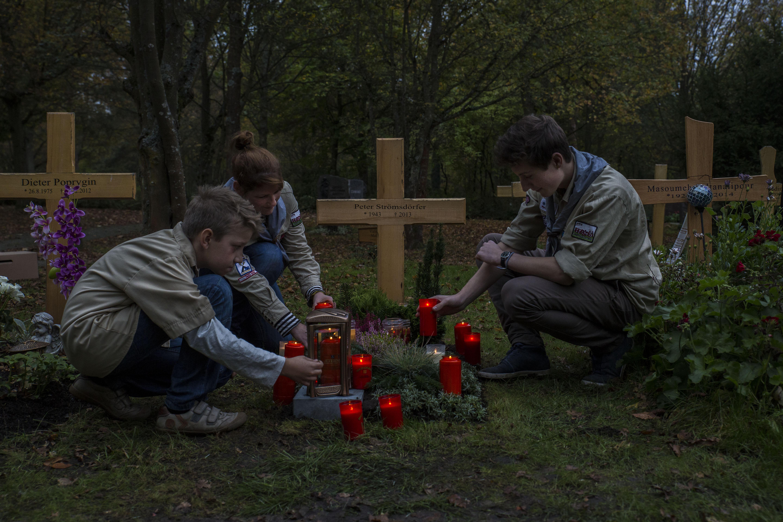 Waldfriedhof Würzburg im Oktober 2014